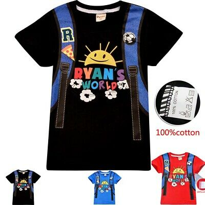 Ryan toys review world boys kids summer t-shirt pack size 3-8 AU 100% cotton