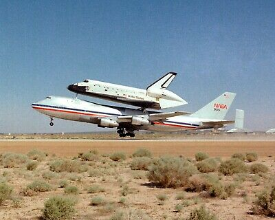 Photograph of the NASA 747 /& Space Shuttle Endeavour Year 2008   8x10