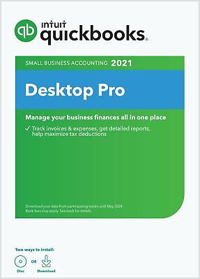 🔥 QuickBooks Desktop Pro 2020 Accounting Software [PC Download]