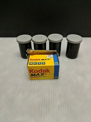4 Rolls of Kodak Gold 35mm Color Film 24 Exposures Ea. & 1 Roll of Kodak Max 400