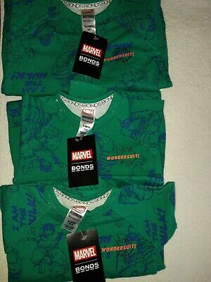 Bonds Marvel Hulk Wondersuit Sz2. BNWT.