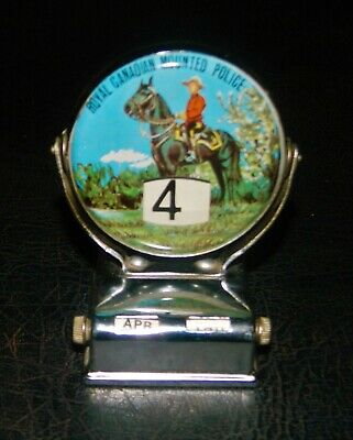 Scarce Vintage Perpetual Royal Canadian Mountain Police Desktop Calendar