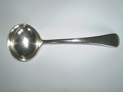 Beautiful Small Heavy Sterling Silver Sauce Ladle - Sheffield Mapping & Webb