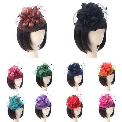 Elegent Women Fascinator Hat Feather Hair Clip Cocktail Ball Headpiece Cheap/xyz