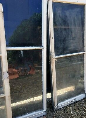 Antique original French window sets X 11 w/ cremone bolts house lot Dutch origin