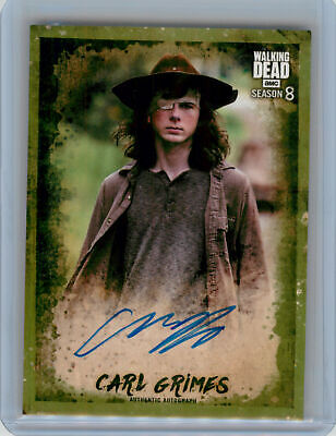 2018 Topps Walking Dead Season 8 P1 MOLD Autograph Chandler Riggs as Carl #23/25