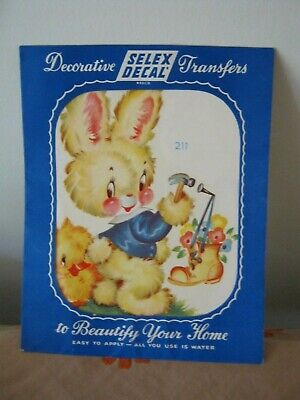 Vintage SELEX DECAL Nursery Transfer. Large Size. Extremely Cute BEAR.