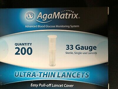 AgaMatrix Ultra-Thin Lancets 33G x 200