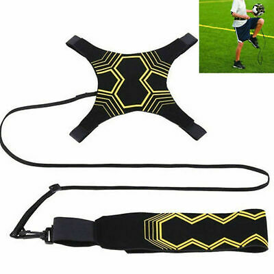 Football Kick Trainer Skills Solo Soccer Training Aid Equipment w Waist Belt