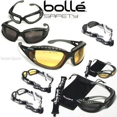 Bolle Tracker II Safety Glasses Airsoft - Clear - Yellow - Smoke Lenses