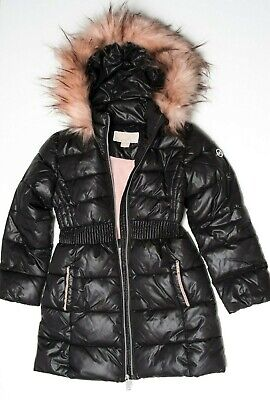 Michael Kors Girls Kids Parka Coat Jacket 6 years Black Pink - NEW NO TAGS