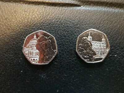 2019 UNC PADDINGTON BEAR 50p SET AT ST PAULS AND TOWER OF LONDON