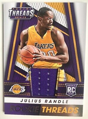 Julius Randle Rookie Card 2014-15 Threads Jersey Card #34