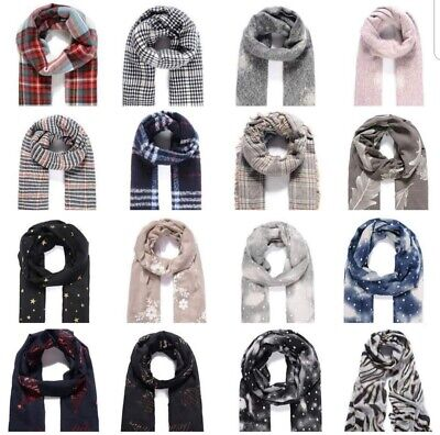 All Seasons Ladies Scarves Various Colours and Prints