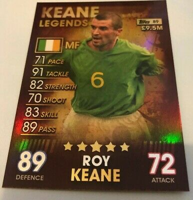 Match Attax 101 2019 100 Club Limited Edition Legends Keane