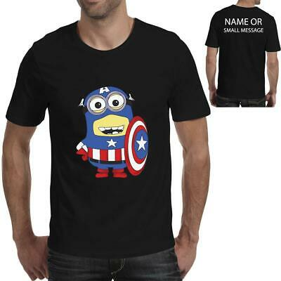Minion Minions captain America Inspired Funny Mens printed T-Shirt