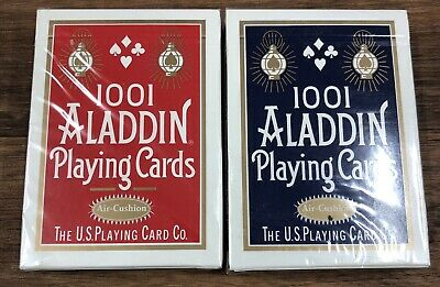 Aladdin 1001 Playing Cards Sealed Red And Blue Decks