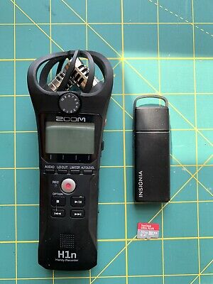 Zoom H1n Portable Handy Recorder with 32GB card and USB Card Reader