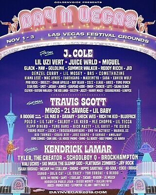 (1) DAY N VEGAS 3 DAY GA TICKET NOVEMBER 1-3. I'm not able to attend. Must Sell!