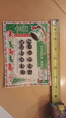 Vintage Christmas 12 Metal Jingle Bells Use On Gift Packages Original Packaging