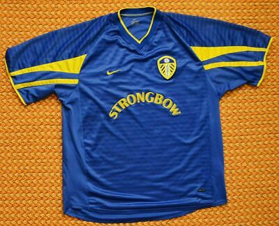 2001 - 2003 Leeds United, Away Football Shirt by Nike, Adult XL, 188, Strongbow