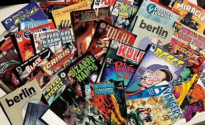 Mystery Comic Box of 20 Comics, DC, Marvel, Image, Eclipse, Indie! 70s - Modern