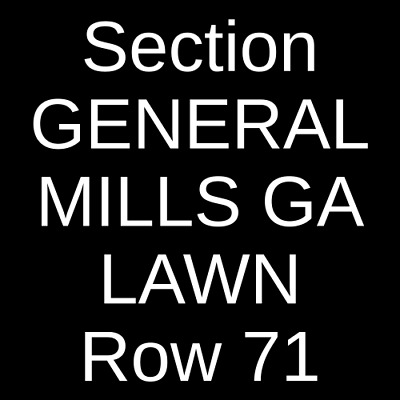 2 Tickets Zac Brown Band 10/25/19 Walmart AMP Rogers, AR