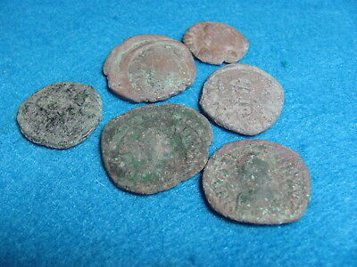 RARE Lot 6 Large BYZANTINE coins!!!