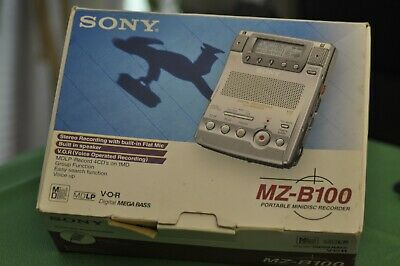Sony Walkman Silver MZ B100 Minidisc voice Player/ Recorder