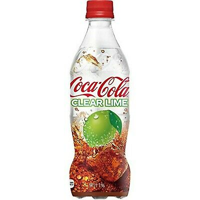 Coca-Cola Clear Lime 500ml x 6 Bottles Limited Edition Japan