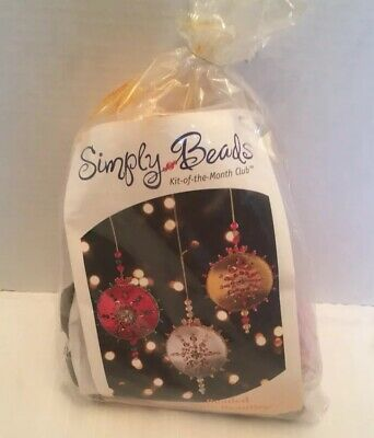 Vintage Kit Of The Month Beaded Satin Beauties Christmas Ornament Kit