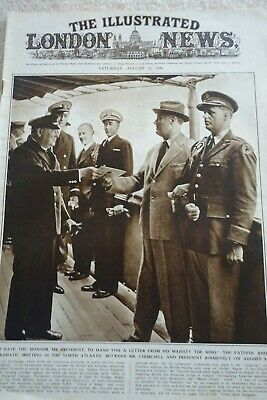 Full Edition - The Illustrated News - 23 August 1941 - Churchill & Roosevelt