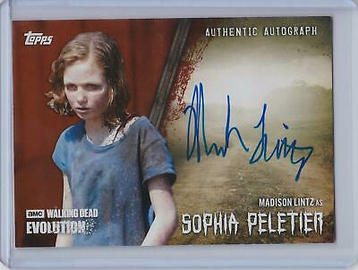 2017 Topps Walking Dead Evolution BROWN Autograph Madison Lintz as Sophia #71/99