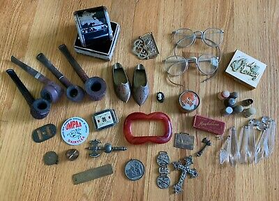 Junk Drawer Lot Tobacco Pipes, Advertising, More!