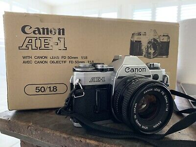 Canon AE-1 35mm Film Camera And Lens