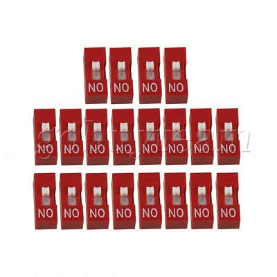 Red DIP-1P DIL Toggle Switch for All PCB Projects 25mA 24V Pack of 20