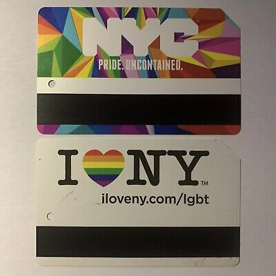 NYC Pride Complete Set (2) Metrocard - Expired in Mint Condition *Collectible It