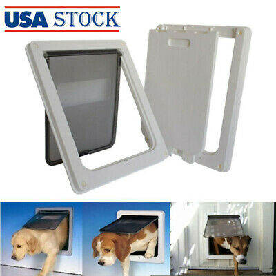 Extra Large ABS Plastic Pet Cat Dog Lockable Security Flap Door Gate Frame #S5