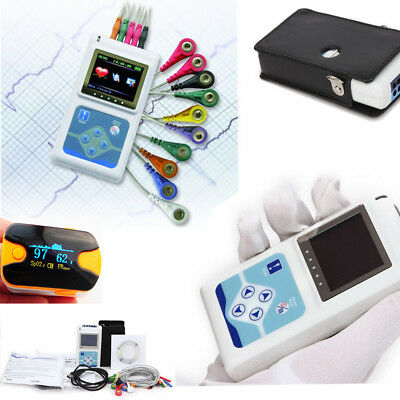 Holter Recorder CardioScape 12-Channel 24 hour ECG EKG Analysis + Gift + Bag