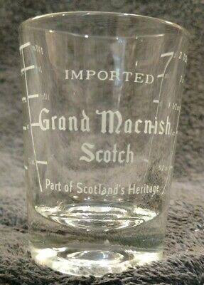 1 MINT Imported Grand Macnish Scotch 2.5 oz Double Shot Shooter Measuring Glass