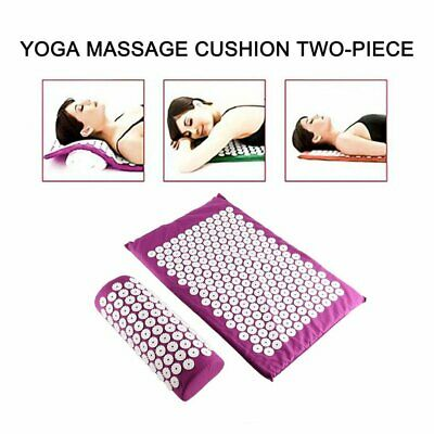 Acupressure Massage Mat with Pillow for Stress/Pain/Tension Relief Body FQ