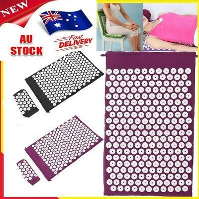 Acupressure Massage Pillow Mat Yoga Bed Pilates Nail Needle Pressure Shakti j3