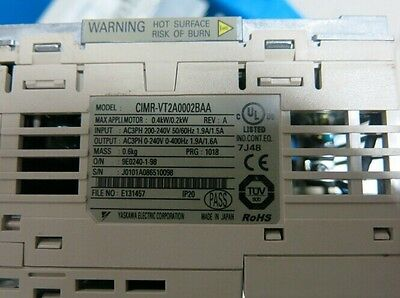 Used YASKAWA Inverter CIMR-VT2A0002BAA 220V 0.2KW Tested
