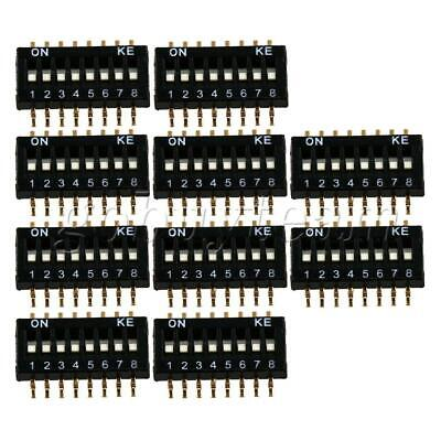 10 x DIP Switch 1.27mm Pitch 8 Position 16 Pin Patch Coding Switch Black