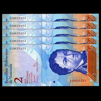 2012//2013 Lot Pack P-88 Venezuela 2 Bolivares Full Bundle 100 PCS UNC