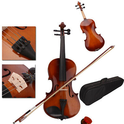 1/4 Size Students Acoustic Violin Fiddle with Case Bridge Bow Rosin