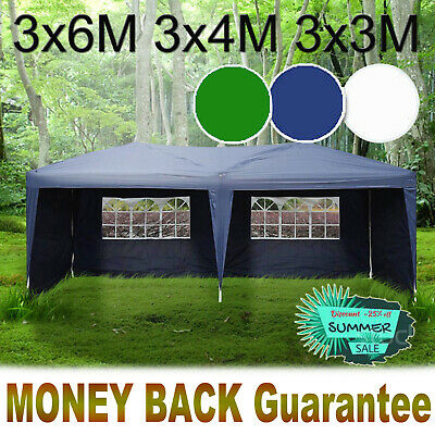 3x6M HeavyDuty Gazebo Marquee Canopy Waterproof Garden Patio Party Tent Stronger