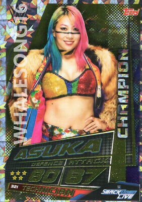 Topps Wwe Slam Attax Universe - Asuka Champion Card - Wrestling