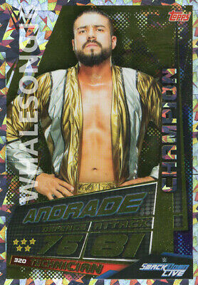 Topps Wwe Slam Attax Universe - Andrade Champion Card - Wrestling
