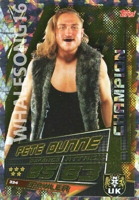 Topps Wwe Slam Attax Universe - Pete Dunne Champion Card - Wrestling - Nxt Uk